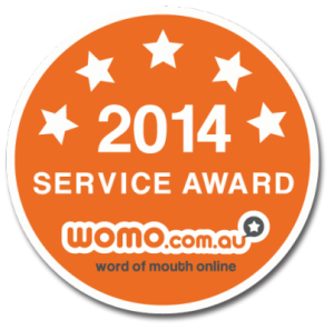 We've been awarded the 2014 WOMO Service Award!